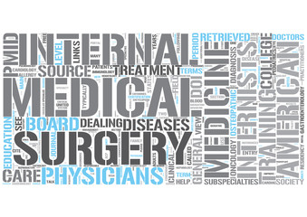 Internal medicine Word Cloud Concept