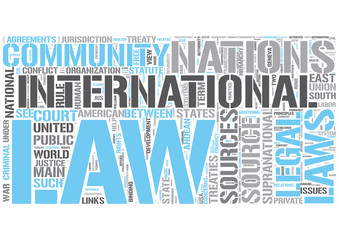 International law Word Cloud Concept