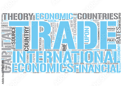 International economics Word Cloud Concept