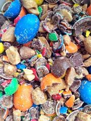 Zerbrochene Süßigkeiten