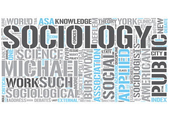 Applied sociology Word Cloud Concept