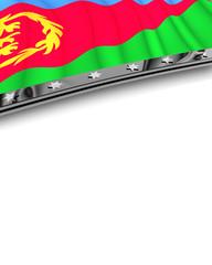 Designelement Flagge Eritrea