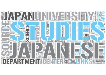 Japanology Word Cloud Concept