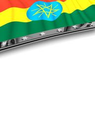 Designelement Flagge Äthiopien