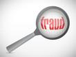 fraud under search. concept illustration design