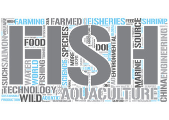 Aquaculture Word Cloud Concept