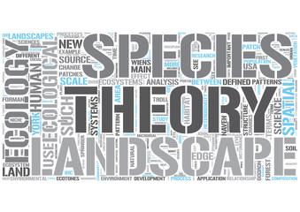 Landscape ecology Word Cloud Concept