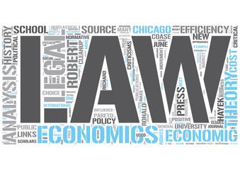 Law and economics Word Cloud Concept