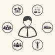 Vision. Businessman dream. Life of businessman. Vector