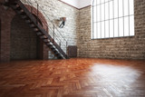Fototapety Empty room with rustic finishes
