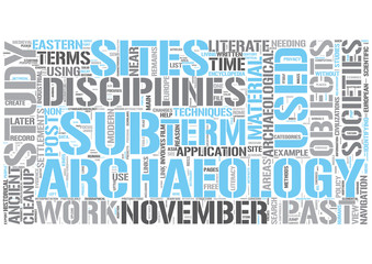 Archaeological sub-disciplines Word Cloud Concept