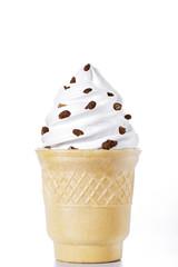 white ice-cream cone