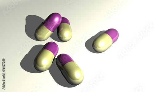 Capsules purple beige