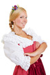 Young happy woman in a dirndl