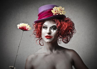 beautiful clown