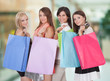 Group Of Woman With Shopping Bag
