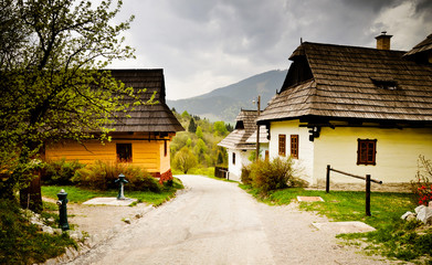 Traditional village in the mountains