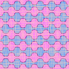 Vector seamless pattern. The wavy pink decor