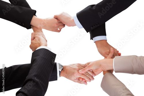Businesspeople Holding Hand