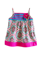 Bright girl dress.Isolated.
