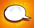 Comic speech bubble design.