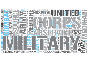 Military medicine Word Cloud Concept