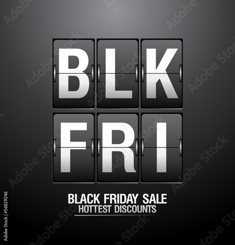 Black friday sale, analog flip clock design.