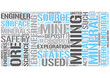 Mining engineering Word Cloud Concept