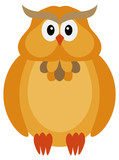 Halloween Fall Color Owl Vector Illustration