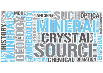 Mineralogy Word Cloud Concept