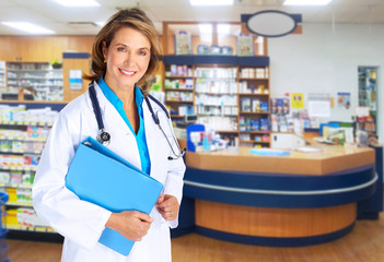 Pharmacist woman.