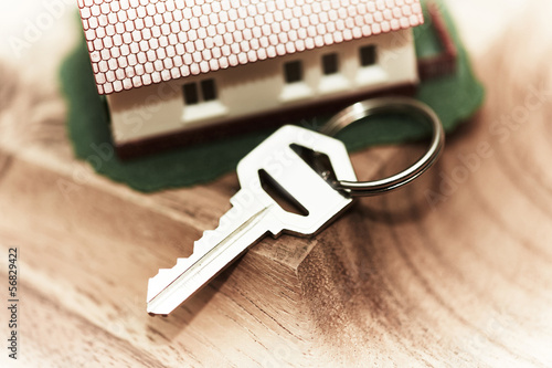 Family house and key.