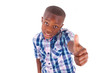 African American boy making thumbs up - Black people