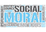 Moral psychology Word Cloud Concept poster