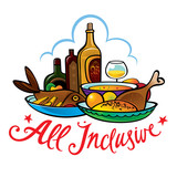 All inclusive food hotel resort breakfast lunch meal