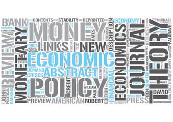 Monetary economics Word Cloud Concept