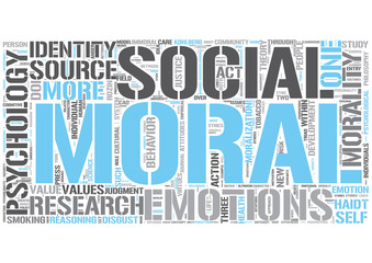 Moral psychology Word Cloud Concept