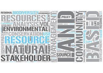 Natural resource management Word Cloud Concept