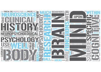 Neuropsychology Word Cloud Concept
