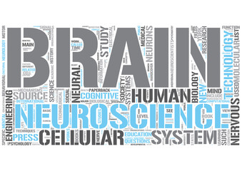 Neuroscience Word Cloud Concept