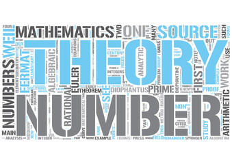 Number theory Word Cloud Concept