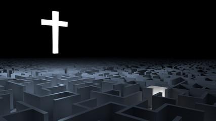 Croce e labirinto