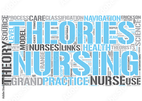Nursing theory Word Cloud Concept