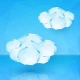 Blue crystal vector clouds