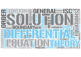 Ordinary differential equations Word Cloud Concept