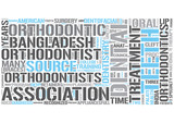 Orthodontics Word Cloud Concept