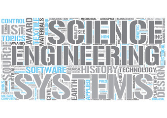 Outline of engineering Word Cloud Concept
