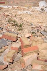 Rubble and bricks