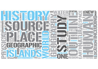 Outline of geography Word Cloud Concept