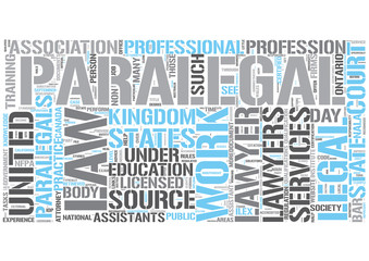Paralegal Word Cloud Concept
